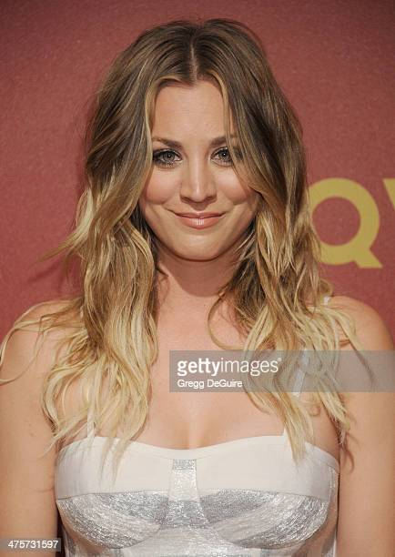 Actress Kaley Cuoco arrives at the QVC 5th Annual Red Carpet Style event at The Four Seasons Hotel on February 28 2014 in Beverly Hills California
