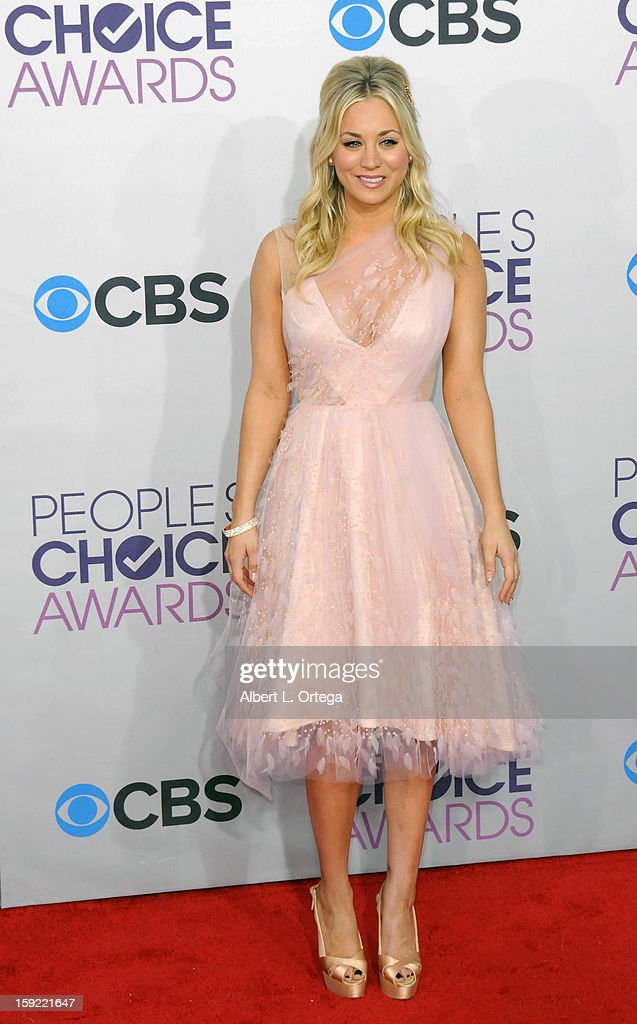 Actress Kaley Cuoco arrives for the 34th Annual People's Choice Awards - Arrivals held at Nokia Theater at L.A. Live on January 9, 2013 in Los Angeles, California.
