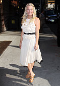 Actress Kaley Cuoco arrives to 'Late Show with David Letterman' at Ed Sullivan Theater on September 25 2012 in New York City