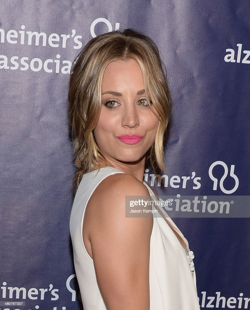 Actress <a gi-track='captionPersonalityLinkClicked' href=/galleries/search?phrase=Kaley+Cuoco&family=editorial&specificpeople=208988 ng-click='$event.stopPropagation()'>Kaley Cuoco</a> attends 22nd A Night At Sardi's at The Beverly Hilton Hotel on March 26, 2014 in Beverly Hills, California.