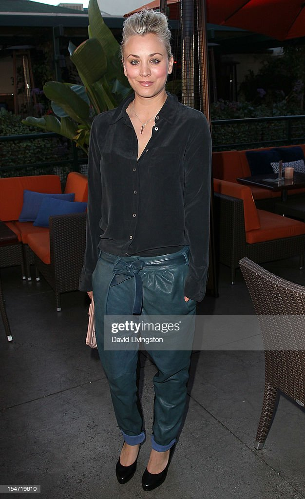 Actress Kaley Cuoco attends a reception to celebrate the release of Chuck Lorre's 'What Doesn't Kill Us Makes Us Bitter' at Mixology101 & Planet Dailies on October 24, 2012 in Los Angeles, California.