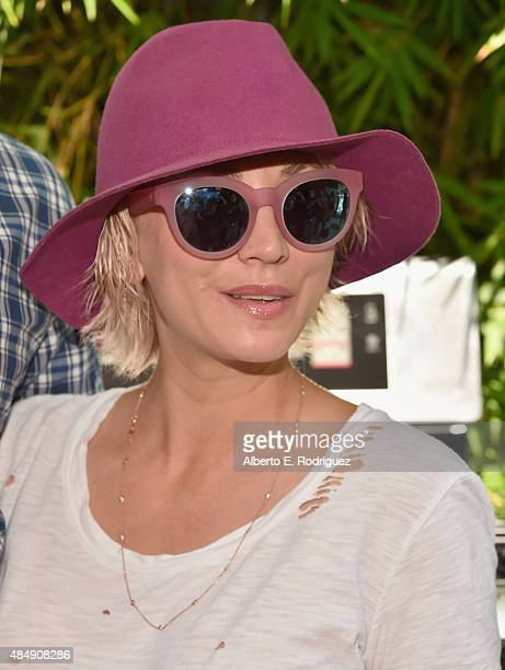 Actress Kaley Cuoco attends Eva Longoria and LG Electronics Host 'Fam To Table' Series at The Washbow on August 22 2015 in Culver City California