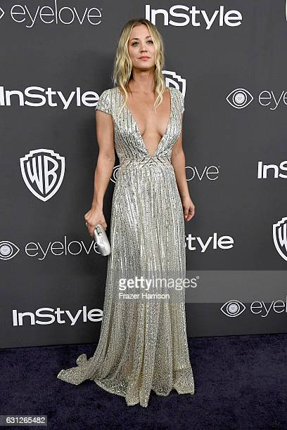 Actress Kaley Cuoco attends the 18th Annual PostGolden Globes Party hosted by Warner Bros Pictures and InStyle at The Beverly Hilton Hotel on January...