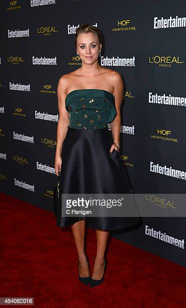 Actress Kaley Cuoco attends the 2014 Entertainment Weekly PreEmmy Party at Fig Olive Melrose Place on August 23 2014 in West Hollywood California