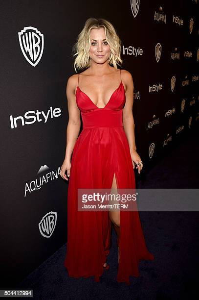 Actress Kaley Cuoco attends The 2016 InStyle And Warner Bros 73rd Annual Golden Globe Awards PostParty at The Beverly Hilton Hotel on January 10 2016...