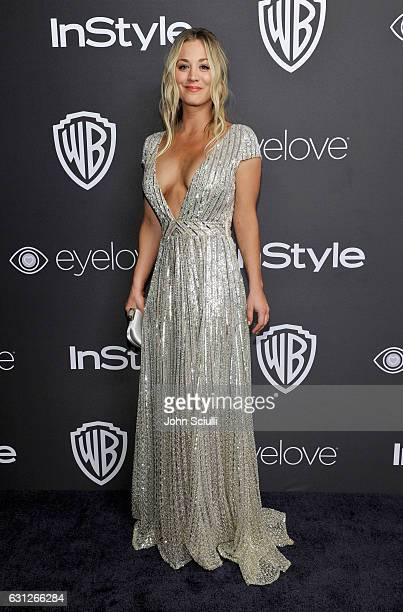 Actress Kaley Cuoco attends The 2017 InStyle and Warner Bros 73rd Annual Golden Globe Awards PostParty at The Beverly Hilton Hotel on January 8 2017...