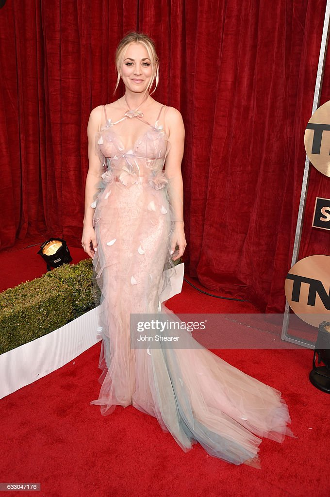 Actress Kaley Cuoco attends The 23rd Annual Screen Actors Guild Awards at The Shrine Auditorium on January 29, 2017 in Los Angeles, California.