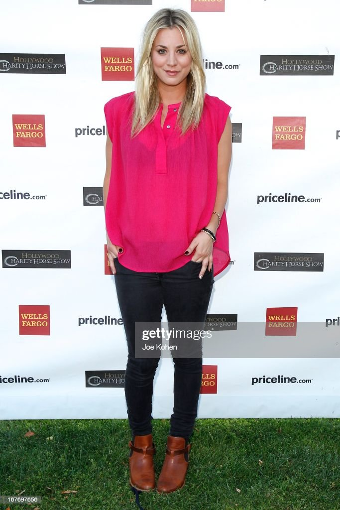 Actress Kaley Cuoco attends the 23rd Annual William Shatner Priceline.com Hollywood Charity Horse Show at Los Angeles Equestrian Center on April 27, 2013 in Los Angeles, California.