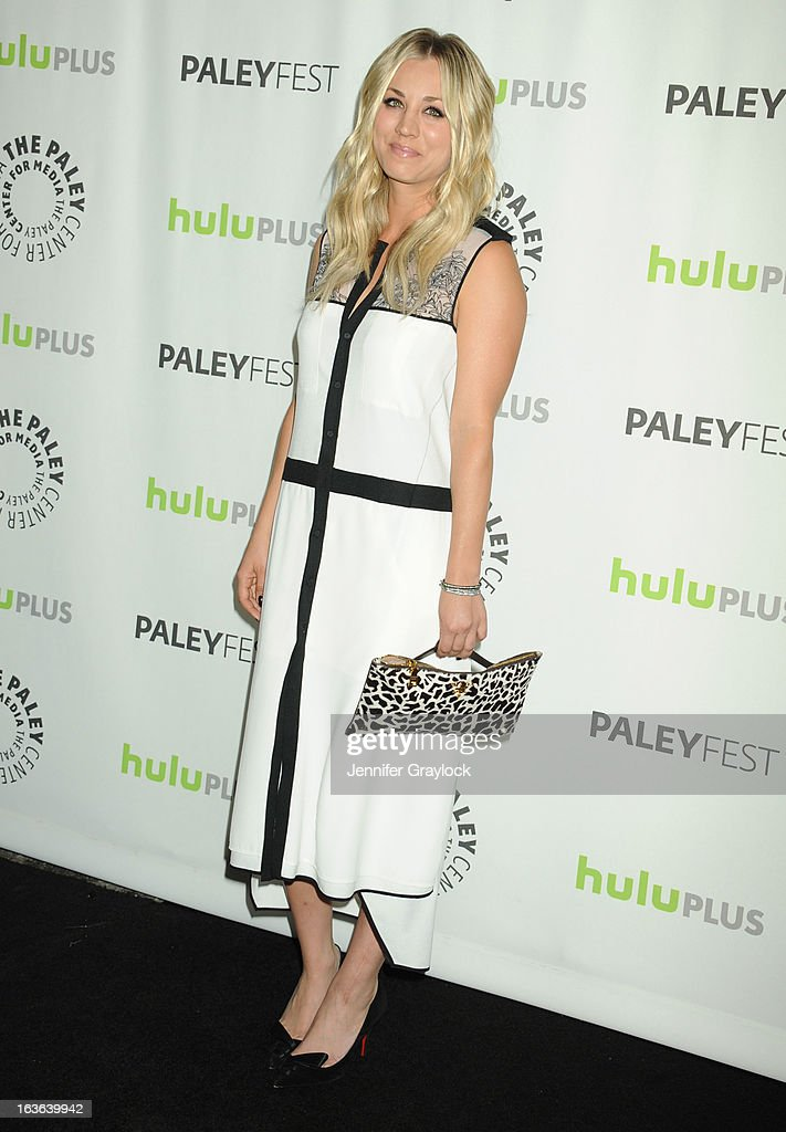 Actress Kaley Cuoco attends the 30th Annual PaleyFest: The William S. Paley Television Festival honors The Big Bang Theory held at Saban Theatre on March 13, 2013 in Beverly Hills, California.