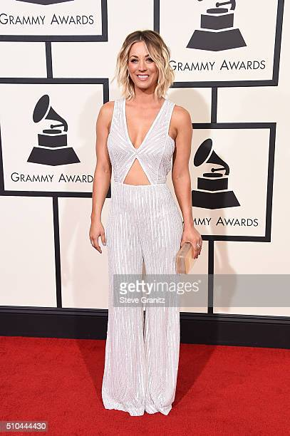 Actress Kaley Cuoco attends The 58th GRAMMY Awards at Staples Center on February 15 2016 in Los Angeles California