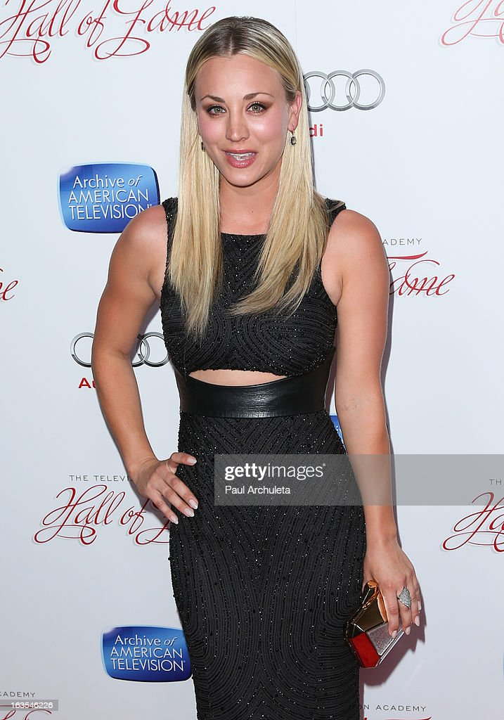 Actress Kaley Cuoco attends the Academy Of Television Arts & Sciences 22nd annual Hall Of Fame induction gala at The Beverly Hilton Hotel on March 11, 2013 in Beverly Hills, California.