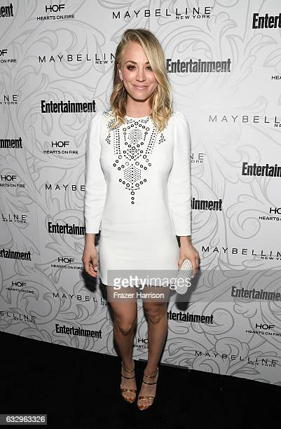 Actress Kaley Cuoco attends the Entertainment Weekly Celebration of SAG Award Nominees sponsored by Maybelline New York at Chateau Marmont on January...