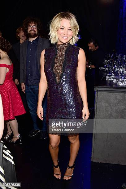 Actress Kaley Cuoco attends the People's Choice Awards 2016 at Microsoft Theater on January 6 2016 in Los Angeles California