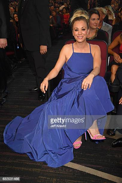 Actress Kaley Cuoco attends the People's Choice Awards 2017 at Microsoft Theater on January 18 2017 in Los Angeles California