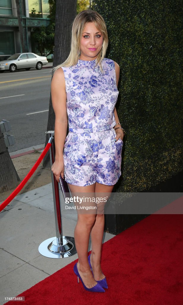 Actress Kaley Cuoco attends the premiere of 'Blue Jasmine' hosted by the AFI & Sony Picture Classics at the AMPAS Samuel Goldwyn Theater on July 24, 2013 in Beverly Hills, California.