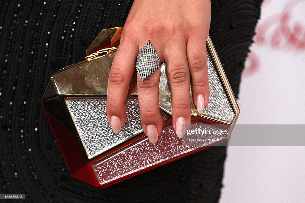 Actress Kaley Cuoco (handbag details) attends the Television Academy's 22nd Annual Hall Of Fame Induction Gala held at The Beverly Hilton Hotel on March 11, 2013 in Beverly Hills, California.