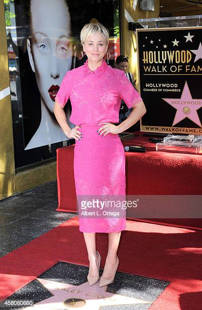 Actress Kaley Cuoco gets Honored On The Hollywood Walk Of Fame with a Star on October 29 2014 in Hollywood California