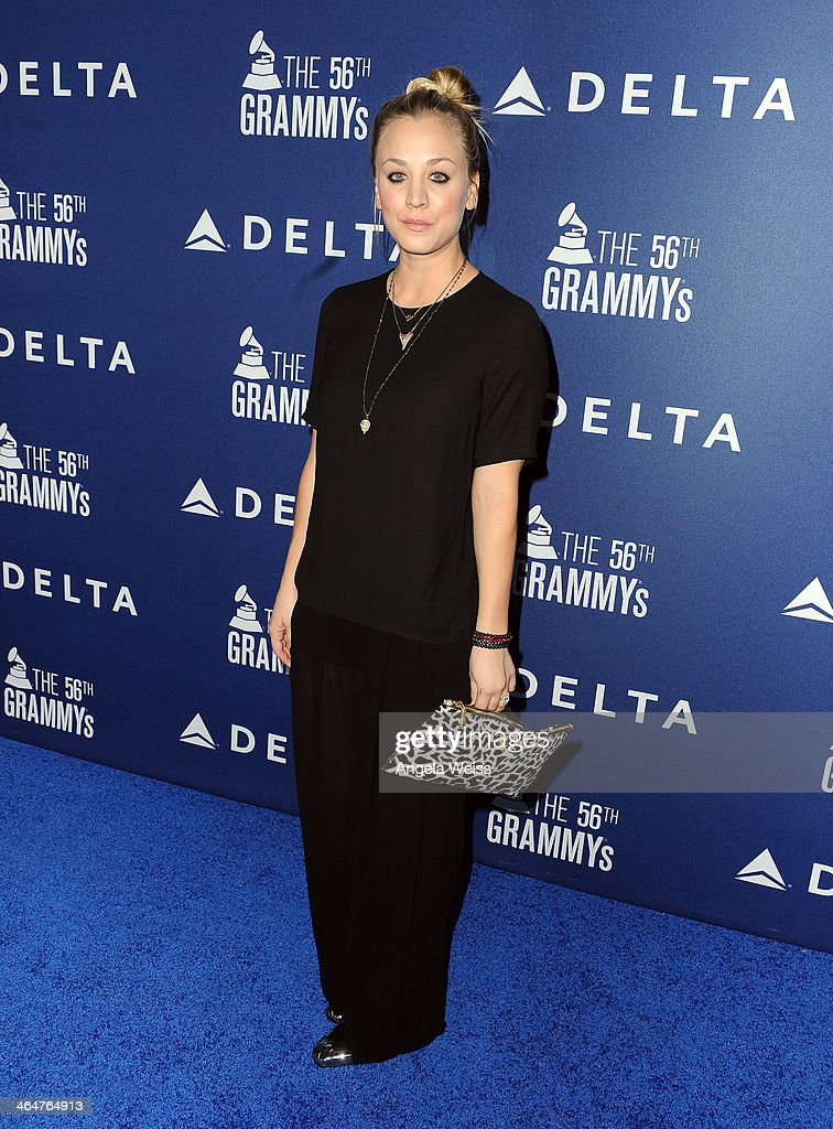 Actress <a gi-track='captionPersonalityLinkClicked' href=/galleries/search?phrase=Kaley+Cuoco&family=editorial&specificpeople=208988 ng-click='$event.stopPropagation()'>Kaley Cuoco</a> joins Delta Air Lines in toasting 2014 GRAMMY Weekend with private reception and performance from Lorde, four-time 2014 GRAMMY award nominee in West Hollywood, CA on January 23rd 2014