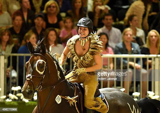Actress Kaley Cuoco performs during the Charity ProAM class at Longines Los Angeles Masters at Los Angeles Convention Center on September 27 2014 in...