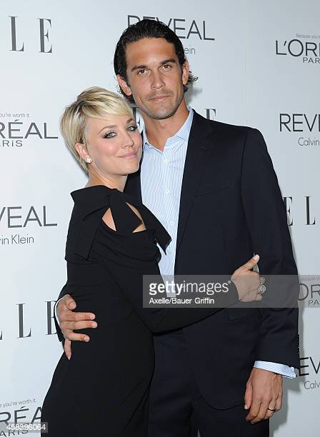 Actress Kaley CuocoSweeting and professional tennis player Ryan Sweeting arrive at the 21st Annual ELLE Women In Hollywood Awards at Four Seasons...