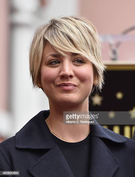 Actress Kaley CuocoSweeting attends a ceremony honoring Jim Parsons wtih the 2545th Star on The Hollywood Walk Of Fame on March 11 2015 in Hollywood...