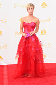 Actress Kaley CuocoSweeting attends the 66th Annual Primetime Emmy Awards held at Nokia Theatre LA Live on August 25 2014 in Los Angeles California