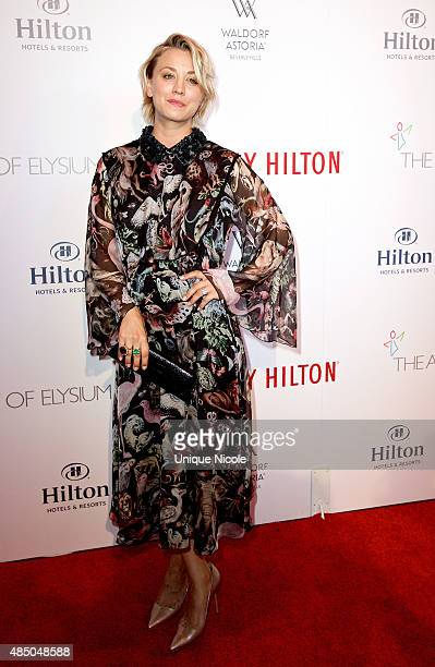 Actress Kaley CuocoSweeting attends The Beverly Hilton celebrates 60 years with a diamond anniversary party at The Beverly Hilton Hotel on August 21...