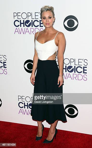 Actress Kaley CuocoSweeting poses in the press room at the 2015 People's Choice Awards at the Nokia Theatre LA Live on January 7 2015 in Los Angeles...