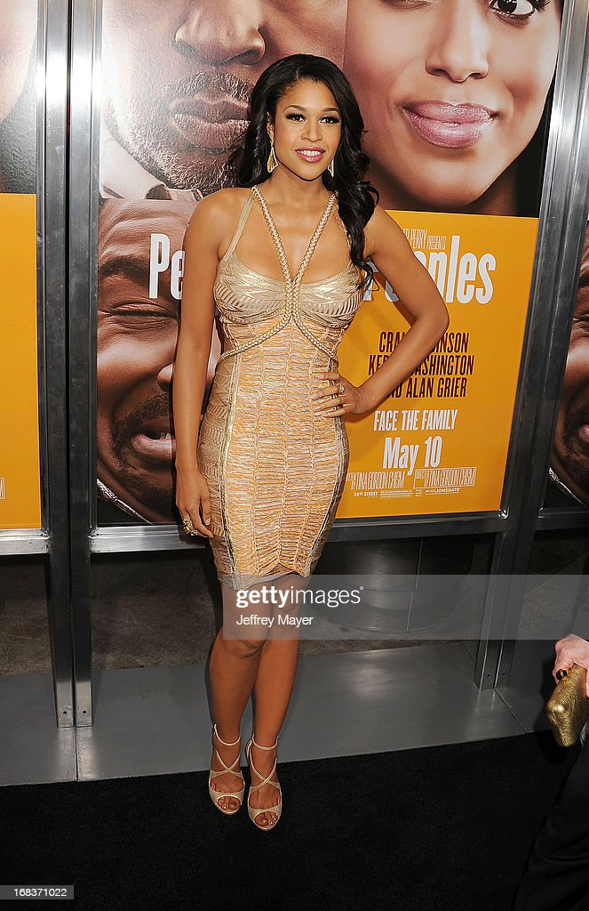 Actress Kali Hawk arrives at the premiere of 'Peeples' presented by Lionsgate Film and Tyler Perry at ArcLight Hollywood on May 8, 2013 in Hollywood, California.