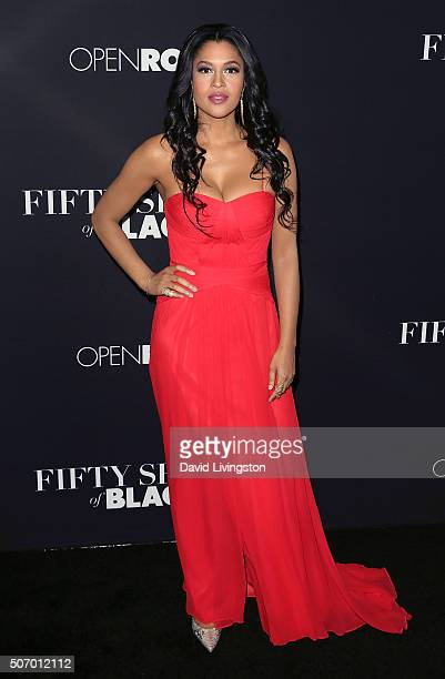 Actress Kali Hawk attends the premiere of Open Roads Films' 'Fifty Shades of Black' at Regal Cinemas LA Live on January 26 2016 in Los Angeles...