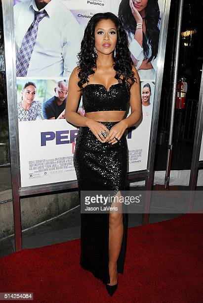 Actress Kali Hawk attends the premiere of 'The Perfect Match' at ArcLight Hollywood on March 7 2016 in Hollywood California