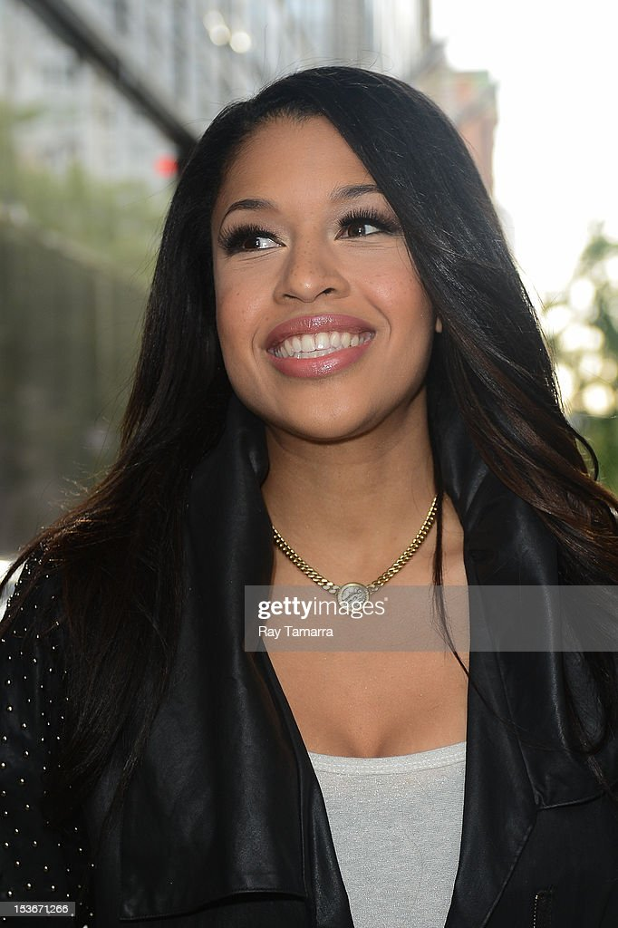 Actress Kali Hawk leaves the 'Good Day New York' taping at the Fox 5 Studios on October 7, 2012 in New York City.