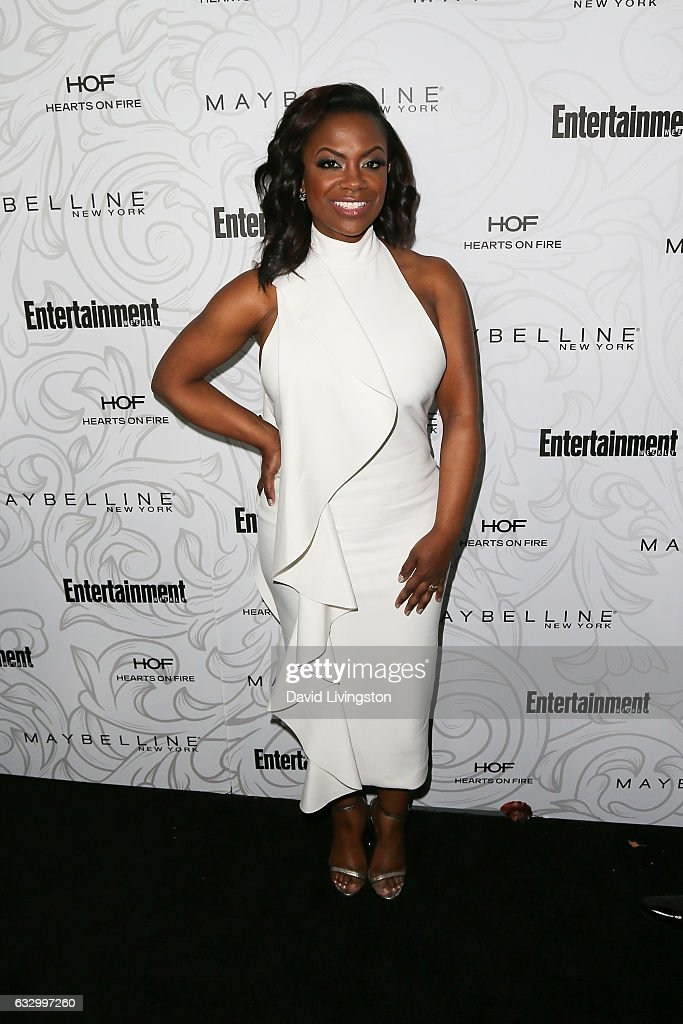 Actress Kandi Burruss arrives at the Entertainment Weekly celebration honoring nominees for The Screen Actors Guild Awards at the Chateau Marmont on January 28, 2017 in Los Angeles, California.