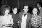 Actress Kandice Stroh actress Marilyn Kagan actor Robert Hays and actress Jodie Foster attend the 'Foxes' Culver City Premiere on February 26 1980 at...