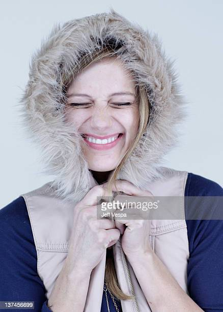Actress Kandis Erickson poses for a portrait during the 2012 Sundance Film Festival at the WireImage Portrait Studio at TMobile Village at the Lift...