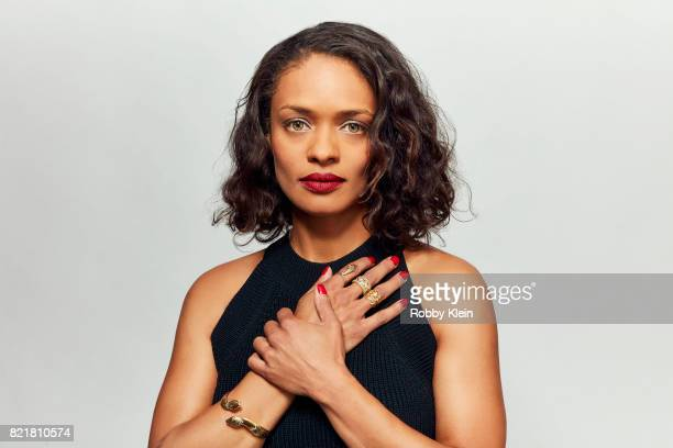 Actress Kandyse McClure from Syfy's 'Ghost Wars' poses for a portrait during ComicCon 2017 at Hard Rock Hotel San Diego on July 23 2017 in San Diego...