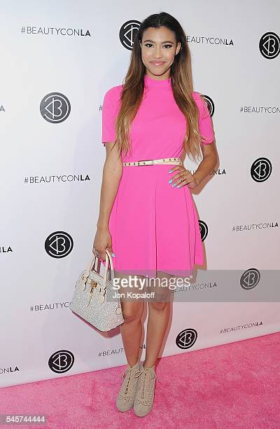 Actress Kara Royster arrives at the 4th Annual Beautycon Festival Los Angeles at Los Angeles Convention Center on July 9 2016 in Los Angeles...