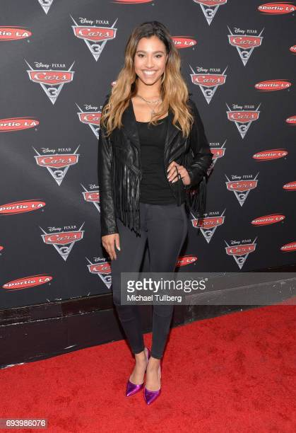 Actress Kara Royster attends Disney's Cars x Sportie LA Event at Sportie LA on June 8 2017 in Los Angeles California
