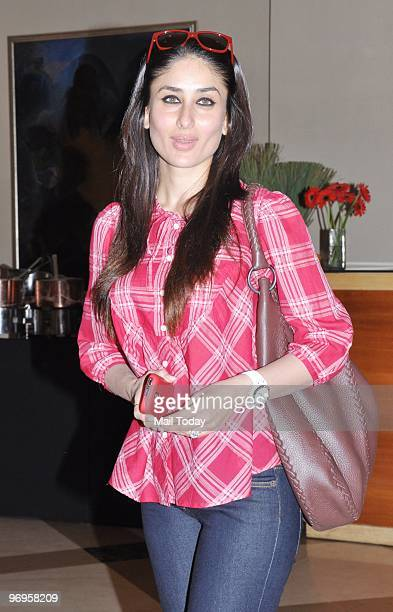 Actress Kareena Kapoor at the launch of a wellness centre in Mumbai on February 21 2010