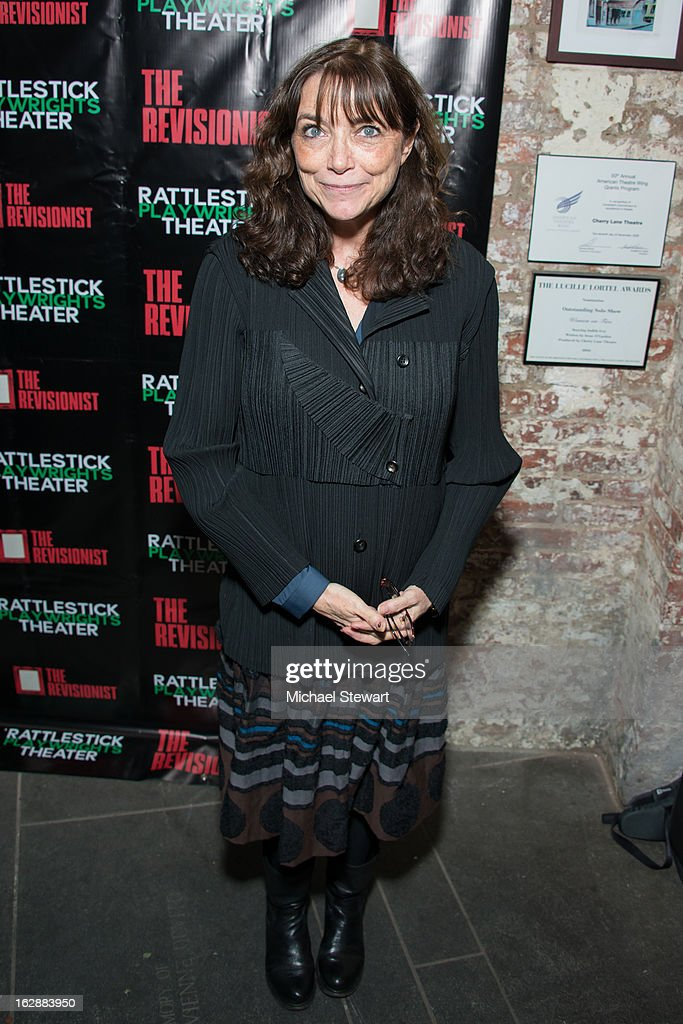 Actress Karen Allen attends 'The Revisionist' Opening Night at Cherry Lane Theatre on February 28, 2013 in New York City.
