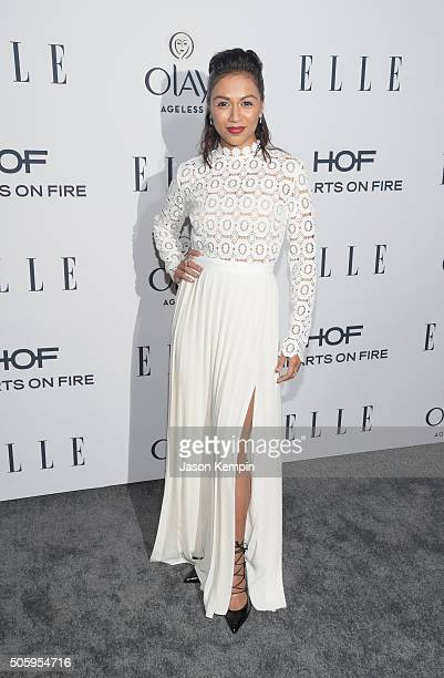 Actress Karen David attends ELLE's 6th Annual Women In Television Dinner at Sunset Tower Hotel on January 20 2016 in West Hollywood California