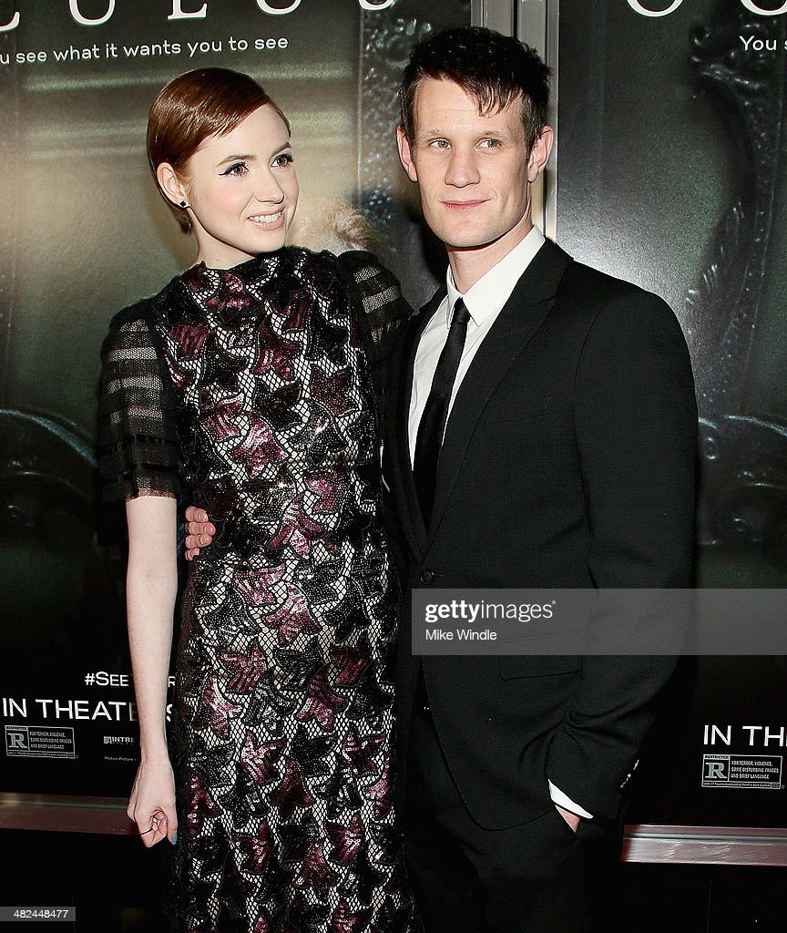 Actress Karen Gillan (L) and actor Matt Smith arrive at the screening of Relativity Media's 'Oculus' at TLC Chinese 6 Theatres on April 3, 2014 in Hollywood, California.
