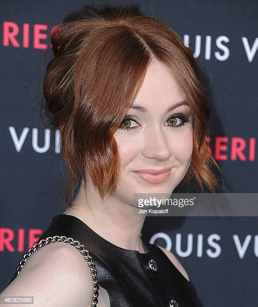 Actress Karen Gillan arrives at Louis Vuitton 'Series 2' The Exhibition on February 5 2015 in Hollywood California