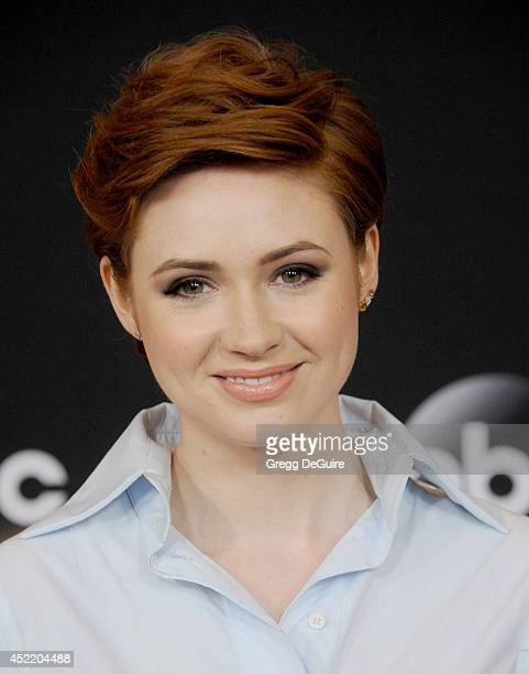Actress Karen Gillan arrives at the 2014 Television Critics Association Summer Press Tour Disney/ABC Television Group at The Beverly Hilton Hotel on...