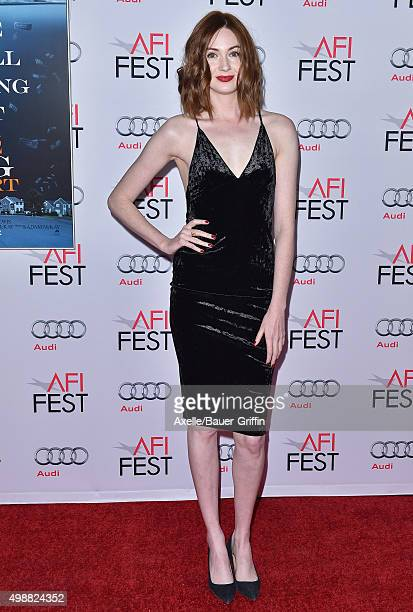 Actress Karen Gillan arrives at the AFI FEST 2015 Presented By Audi Closing Night Gala Premiere of Paramount Pictures' 'The Big Short' at TCL Chinese...