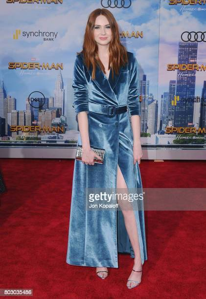 Actress Karen Gillan arrives at the Los Angeles Premiere 'SpiderMan Homecoming' at TCL Chinese Theatre on June 28 2017 in Hollywood California
