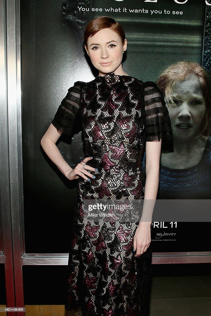 Actress Karen Gillan arrives at the screening of Relativity Media's 'Oculus' at TLC Chinese 6 Theatres on April 3, 2014 in Hollywood, California.