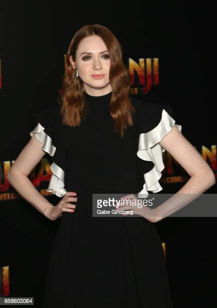 Actress Karen Gillan attends a photo call for Columbia Pictures' 'Jumanji Welcome to the Jungle' during CinemaCon at Caesars Palace on March 27 2017...