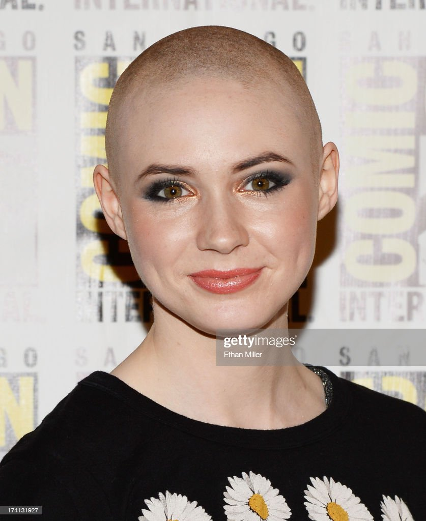 Actress <a gi-track='captionPersonalityLinkClicked' href=/galleries/search?phrase=Karen+Gillan&family=editorial&specificpeople=6876471 ng-click='$event.stopPropagation()'>Karen Gillan</a> attends Marvel's 'Guardians of The Galaxy' press line during Comic-Con International 2013 at the Hilton San Diego Bayfront Hotel on July 20, 2013 in San Diego, California.