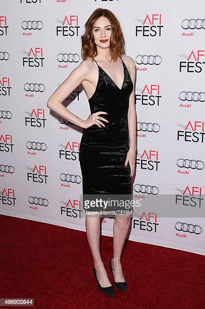 Actress Karen Gillan attends the closing night gala premiere of Paramount Pictures' 'The Big Short' during AFI FEST 2015 at TCL Chinese Theatre on...